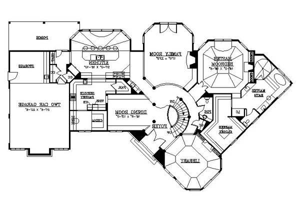 1st Floor Plan image of Featured House Plan: BHG - 6154