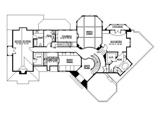 2nd Floor Plan image of Featured House Plan: BHG - 6154