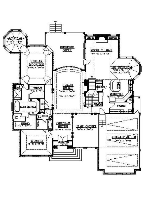 1st Floor Plan image of Featured House Plan: BHG - 6157