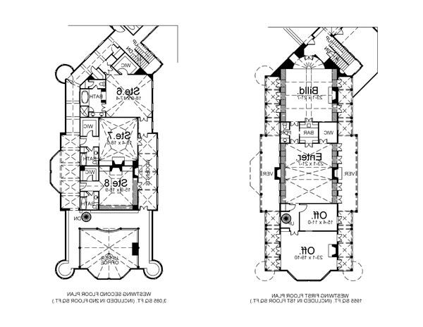 West Wing image of Featured House Plan: BHG - 6048