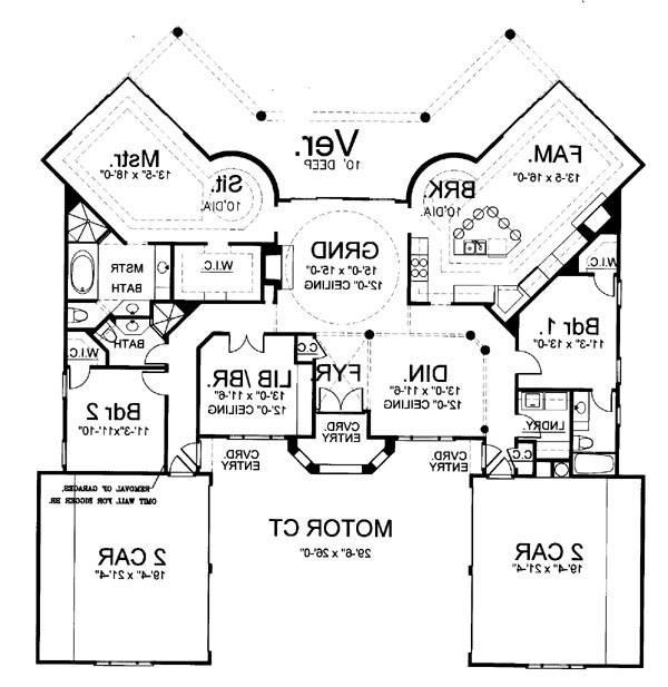 1st Floor Plan image of Featured House Plan: BHG - 5961