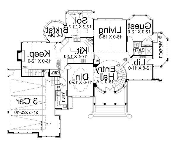 1st Floor Plan image of Featured House Plan: BHG - 5997