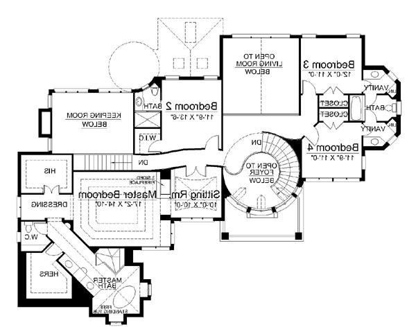 2nd Floor Plan image of Featured House Plan: BHG - 5997