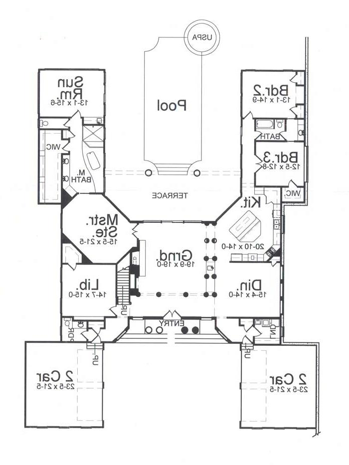 1st Floor Plan image of Featured House Plan: BHG - 7725