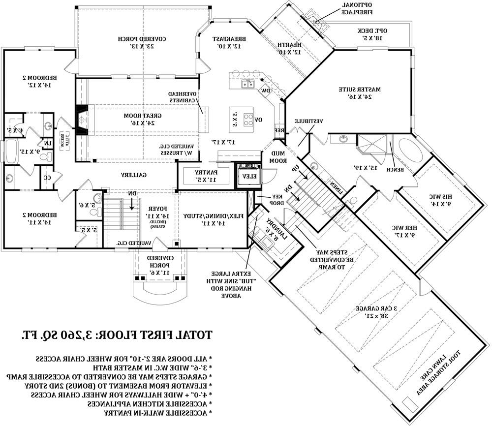 First Floor Plan image of Featured House Plan: BHG - 4673