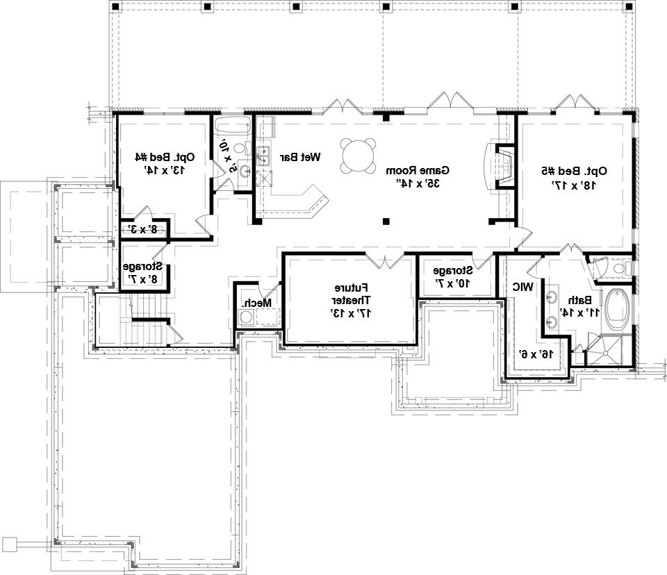 Basement image of Featured House Plan: BHG - 5215
