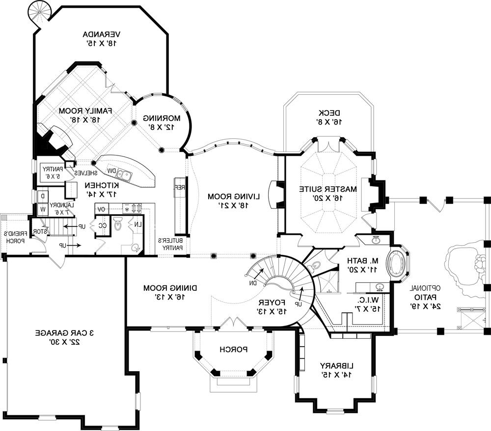 First Floor Plan image of Featured House Plan: BHG - 5213