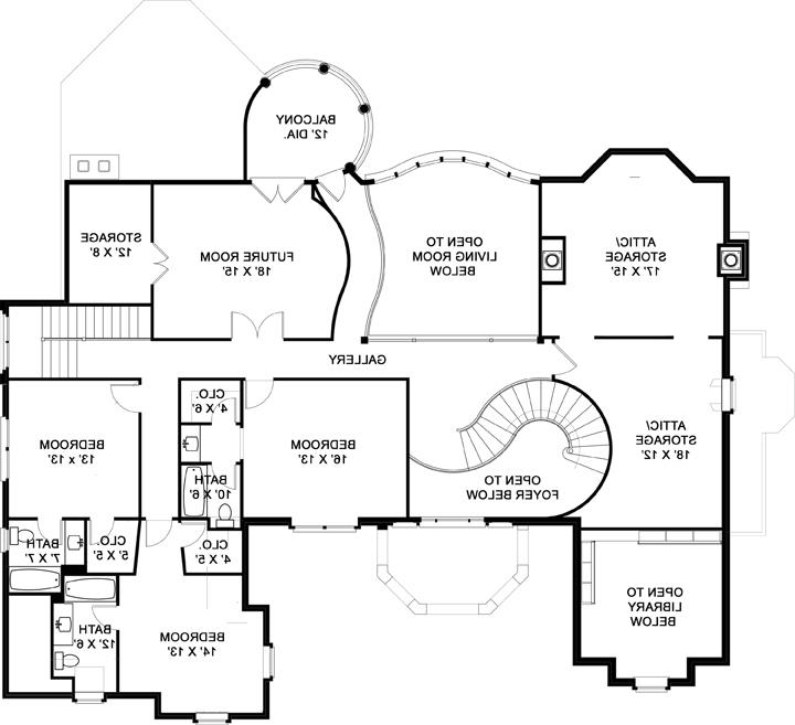 Second Floor Plan image of Featured House Plan: BHG - 5213