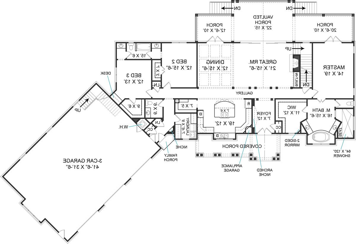 First Floor Plan image of Featured House Plan: BHG - 5527
