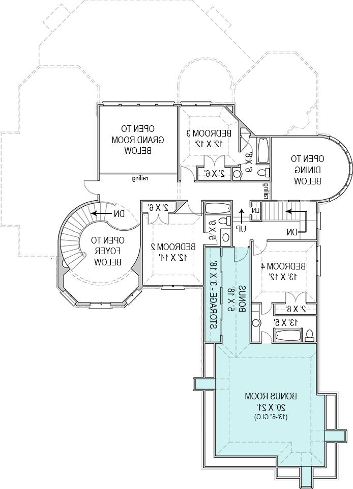 Second Floor Plan image of Featured House Plan: BHG - 8093