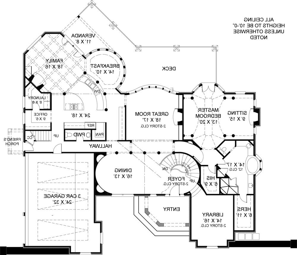 First Floor Plan image of Featured House Plan: BHG - 6002