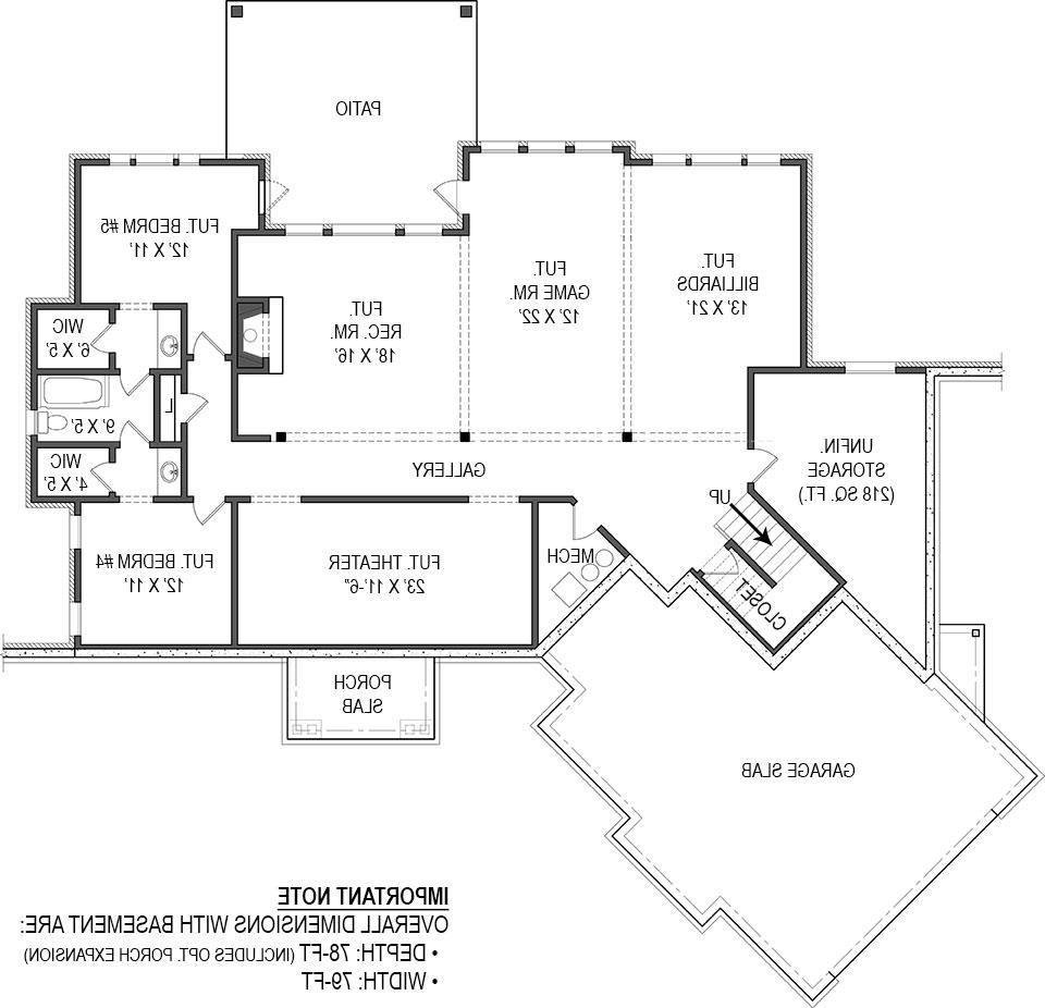Basement image of Featured House Plan: BHG - 4510
