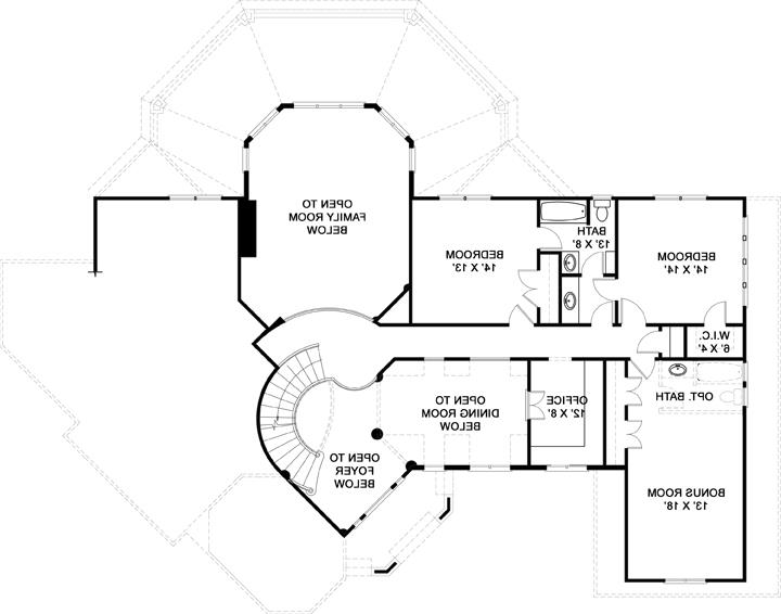 Second Floor Plan image of Featured House Plan: BHG - 5985