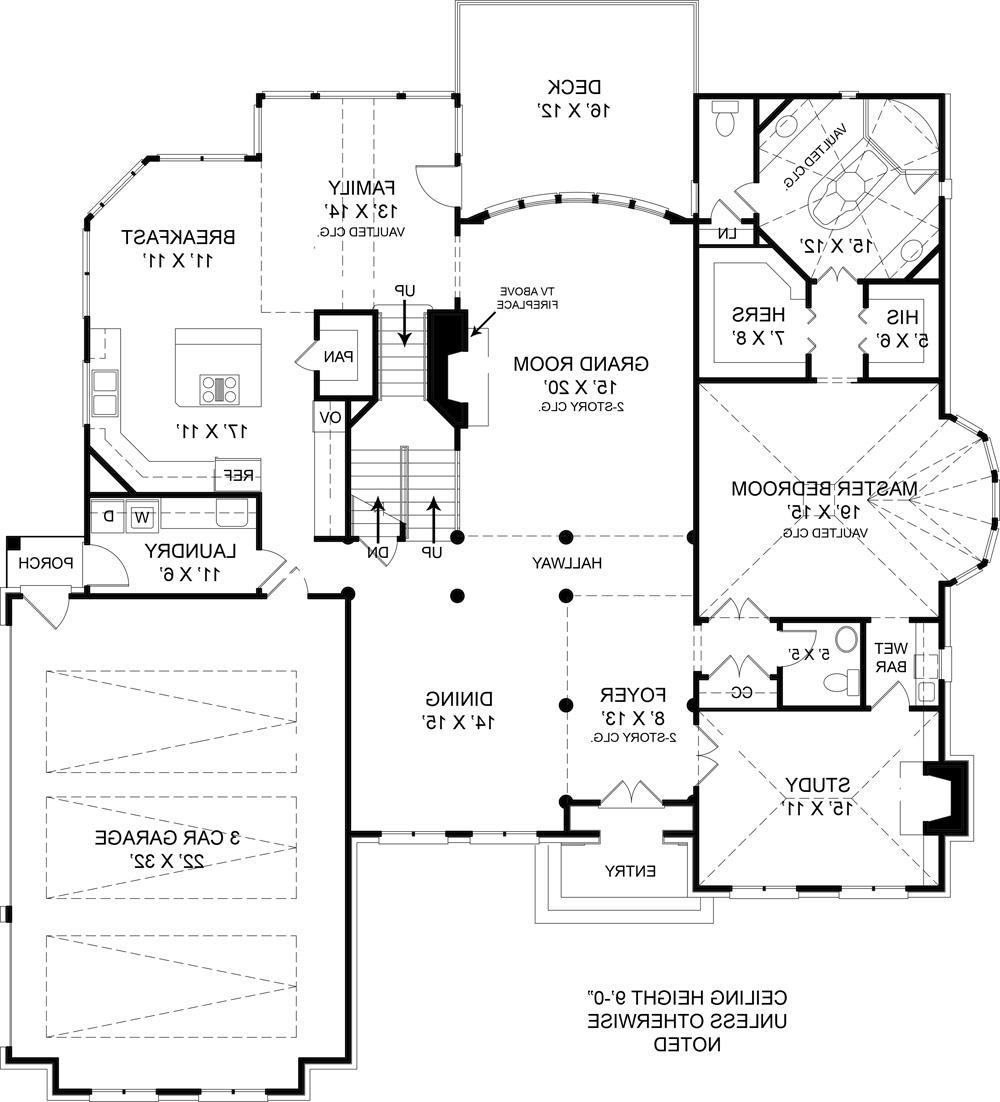 First Floor Plan image of Featured House Plan: BHG - 5989