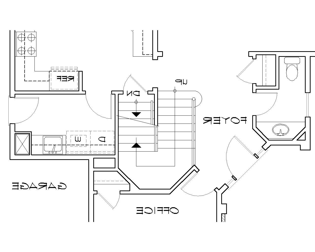Basement Stair Location image of Featured House Plan: BHG - 5156
