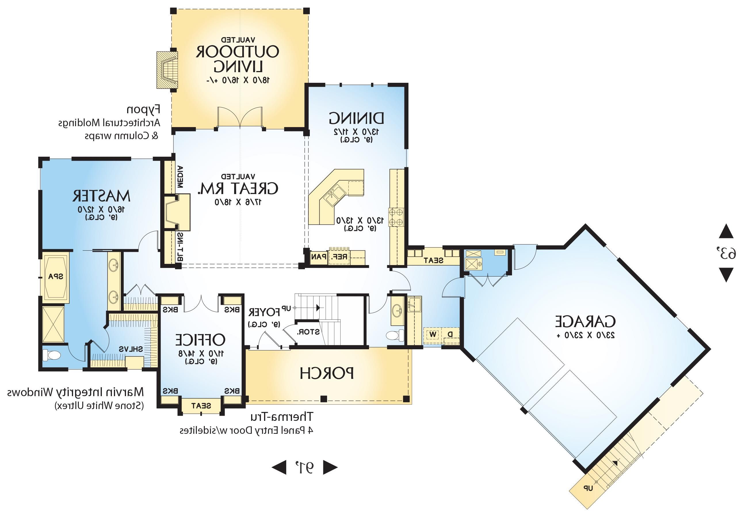 1st Floor Plan image of Featured House Plan: BHG - 4728