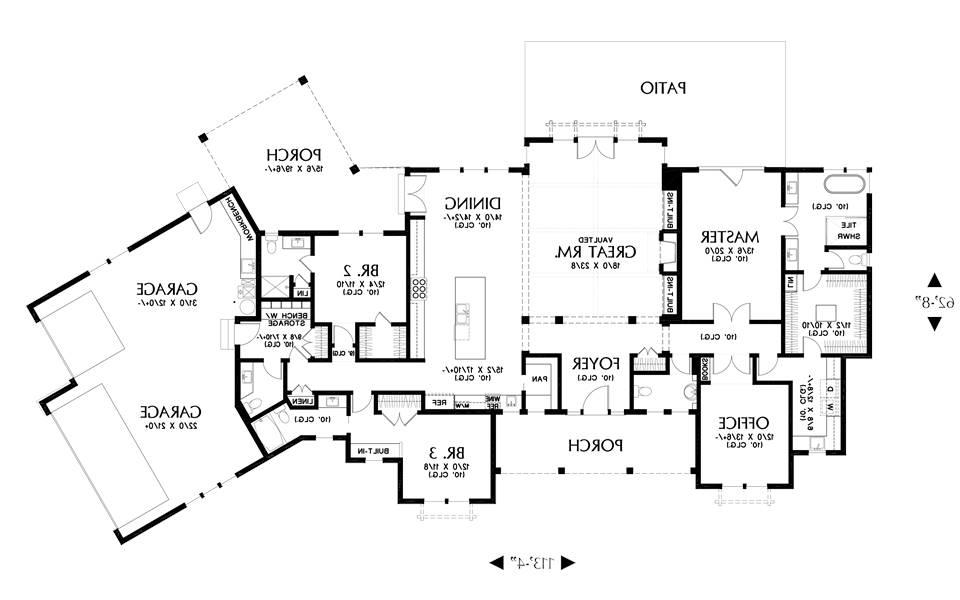 Main Floor Plan image of Featured House Plan: BHG - 7883