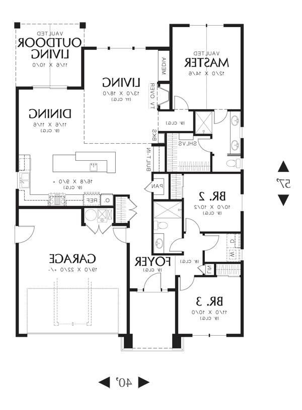 First Floor image of Featured House Plan: BHG - 3086