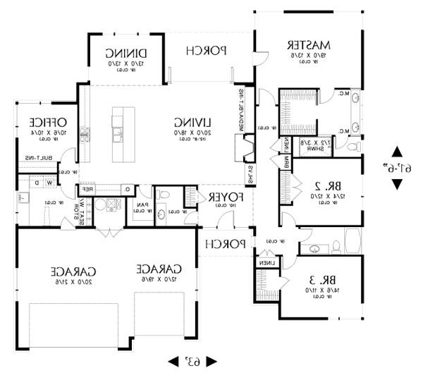 Main FLoor Plan image of Featured House Plan: BHG - 3058
