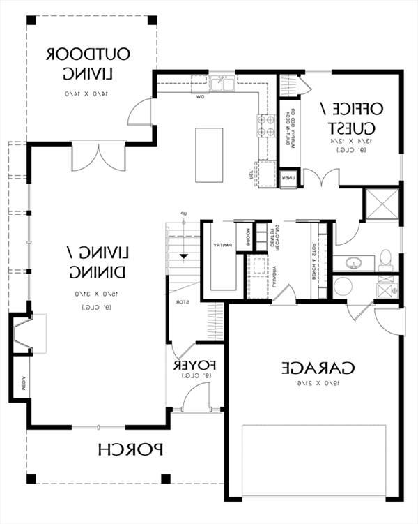 Main Floor Plan image of Featured House Plan: BHG - 3052