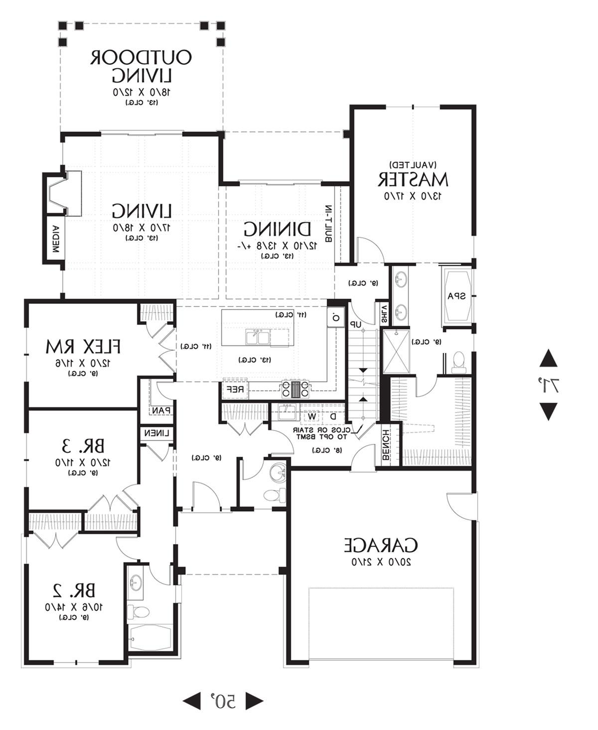 Main Floor Plan image of Featured House Plan: BHG - 4299