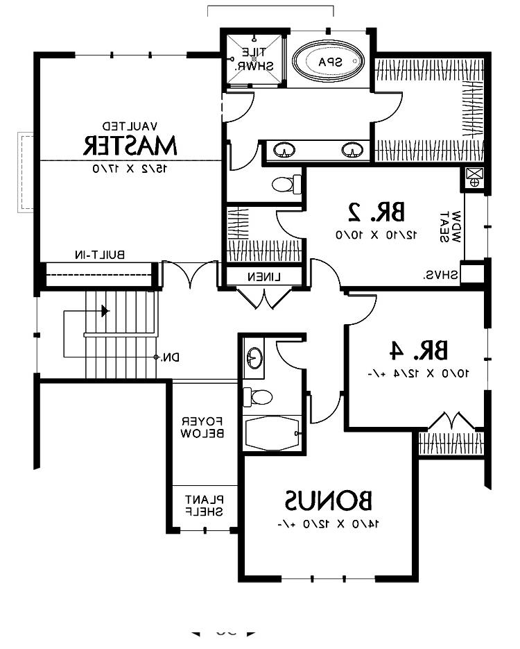 Upper Floor Plan image of Featured House Plan: BHG - 2305