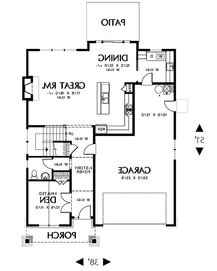 Main Floor Plan image of Featured House Plan: BHG - 2305