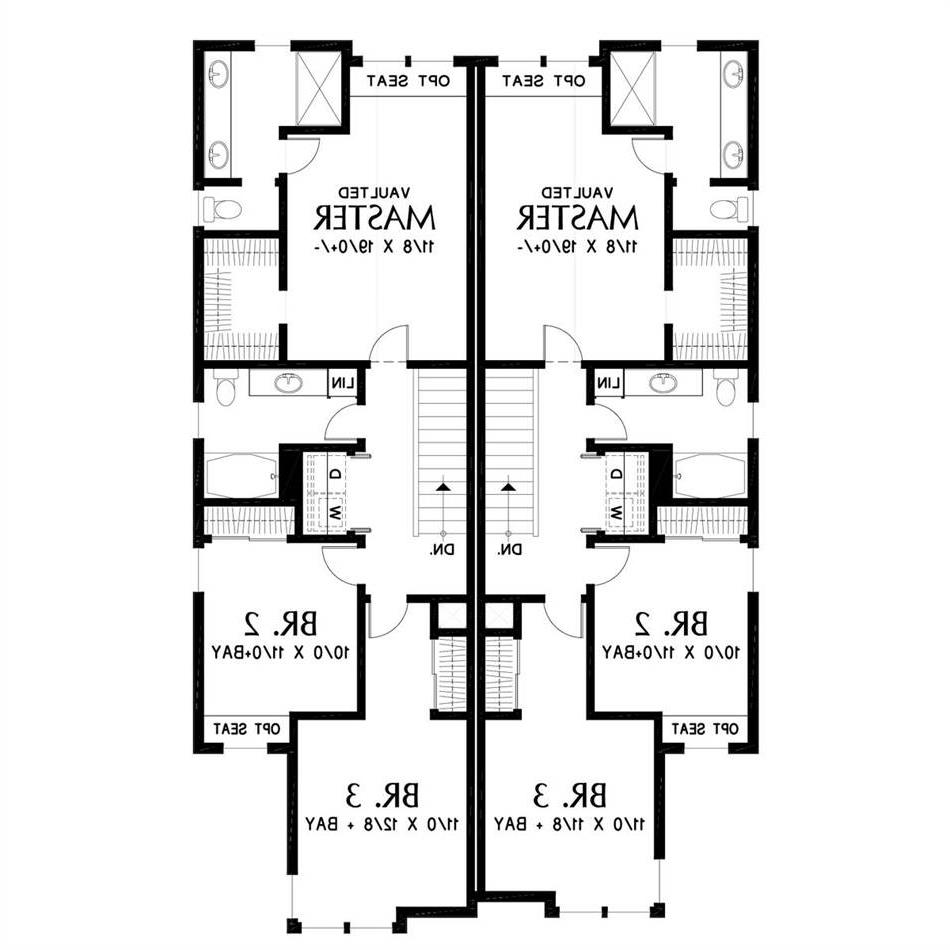 Upper Floor Plan image of Featured House Plan: BHG - 5582