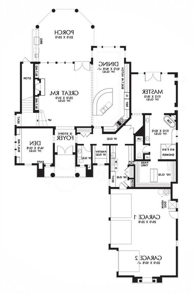 Main Floor Plan image of Featured House Plan: BHG - 6056