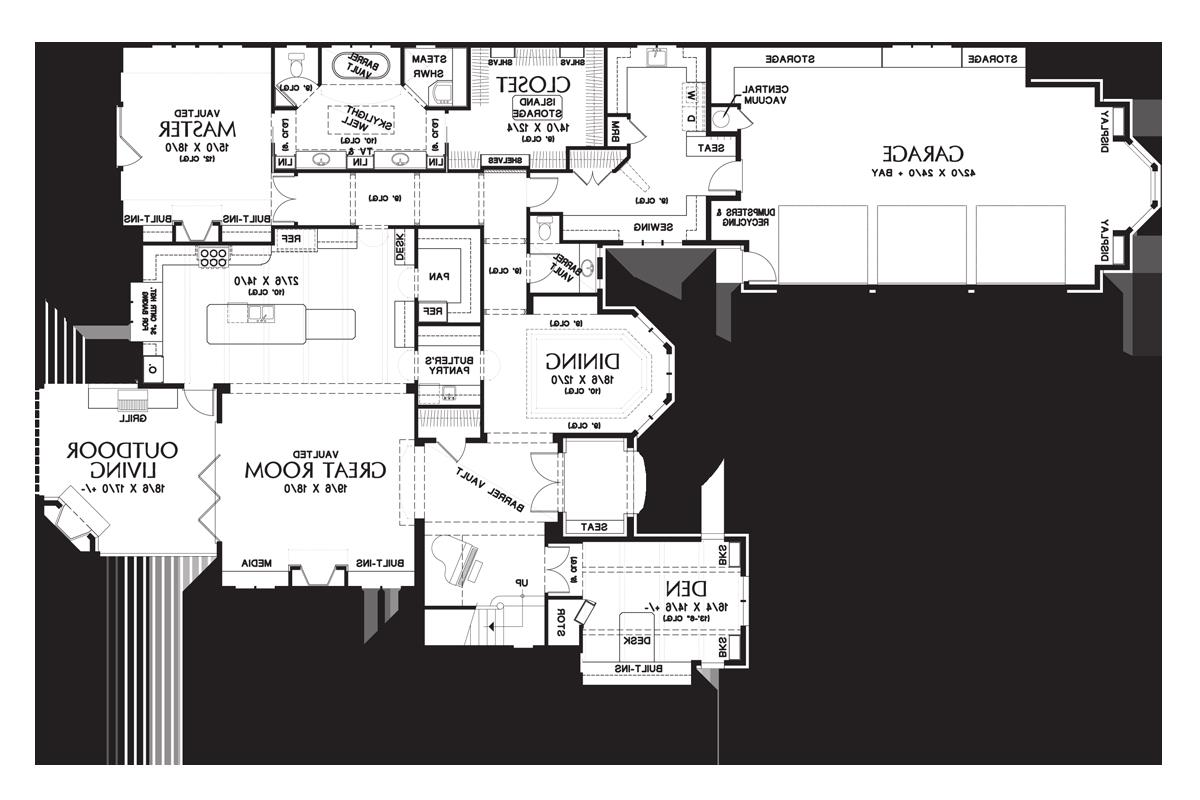 Main FLoor Plan image of Featured House Plan: BHG - 4912