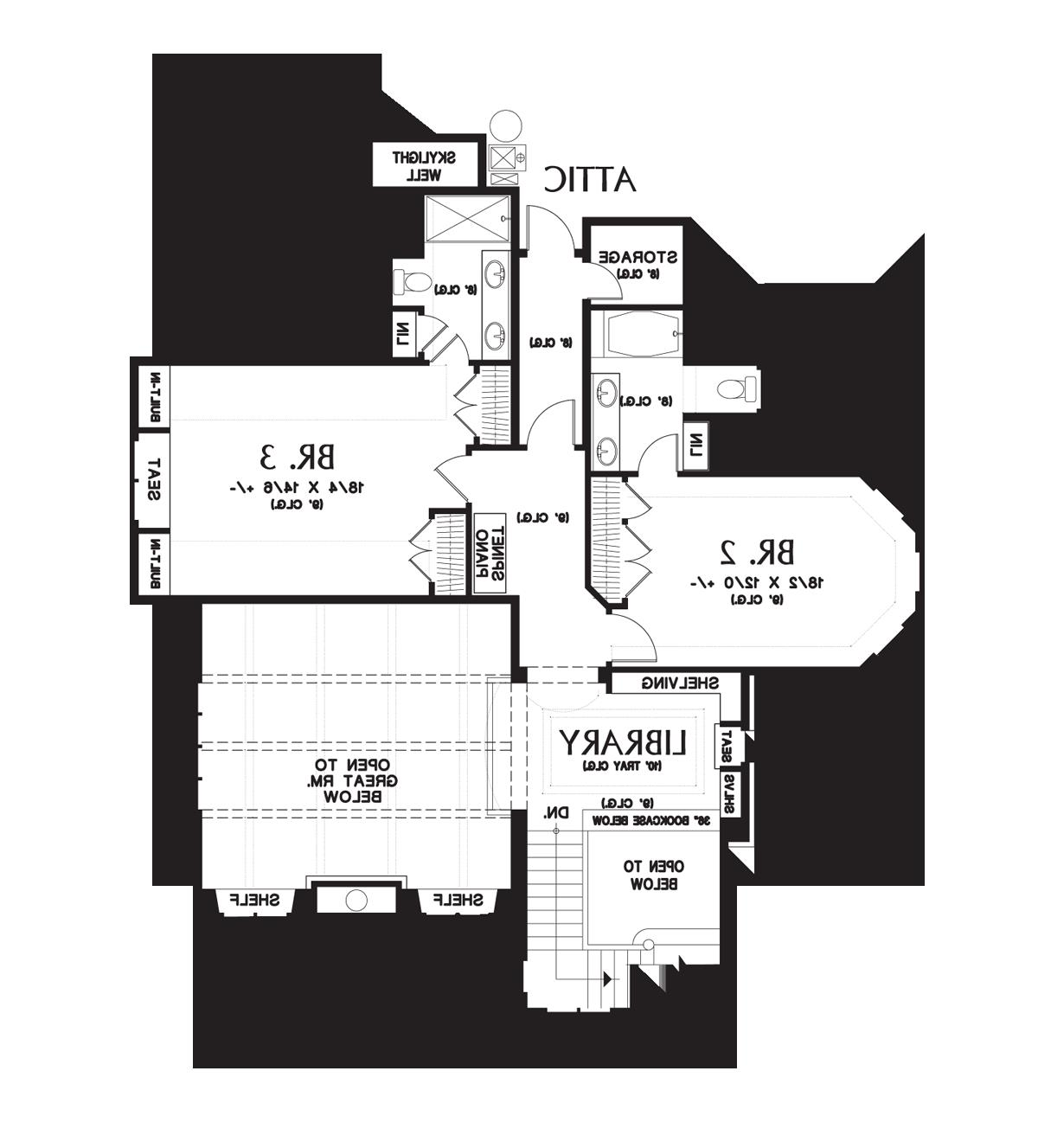 Upper Floor Plan image of Featured House Plan: BHG - 4912