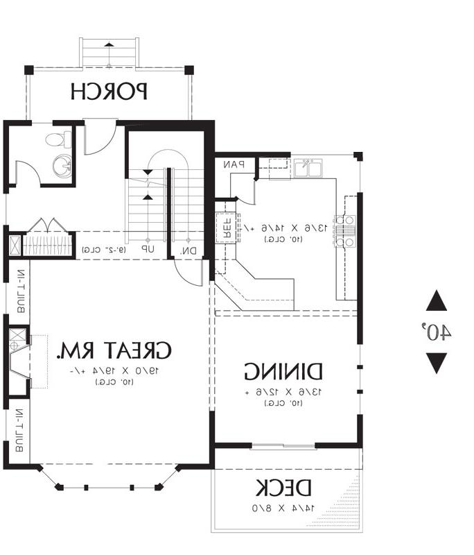 1st Floor Plan image of Featured House Plan: BHG - 4122