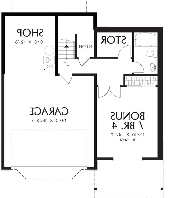 Lower Floor Plan image of Featured House Plan: BHG - 4122