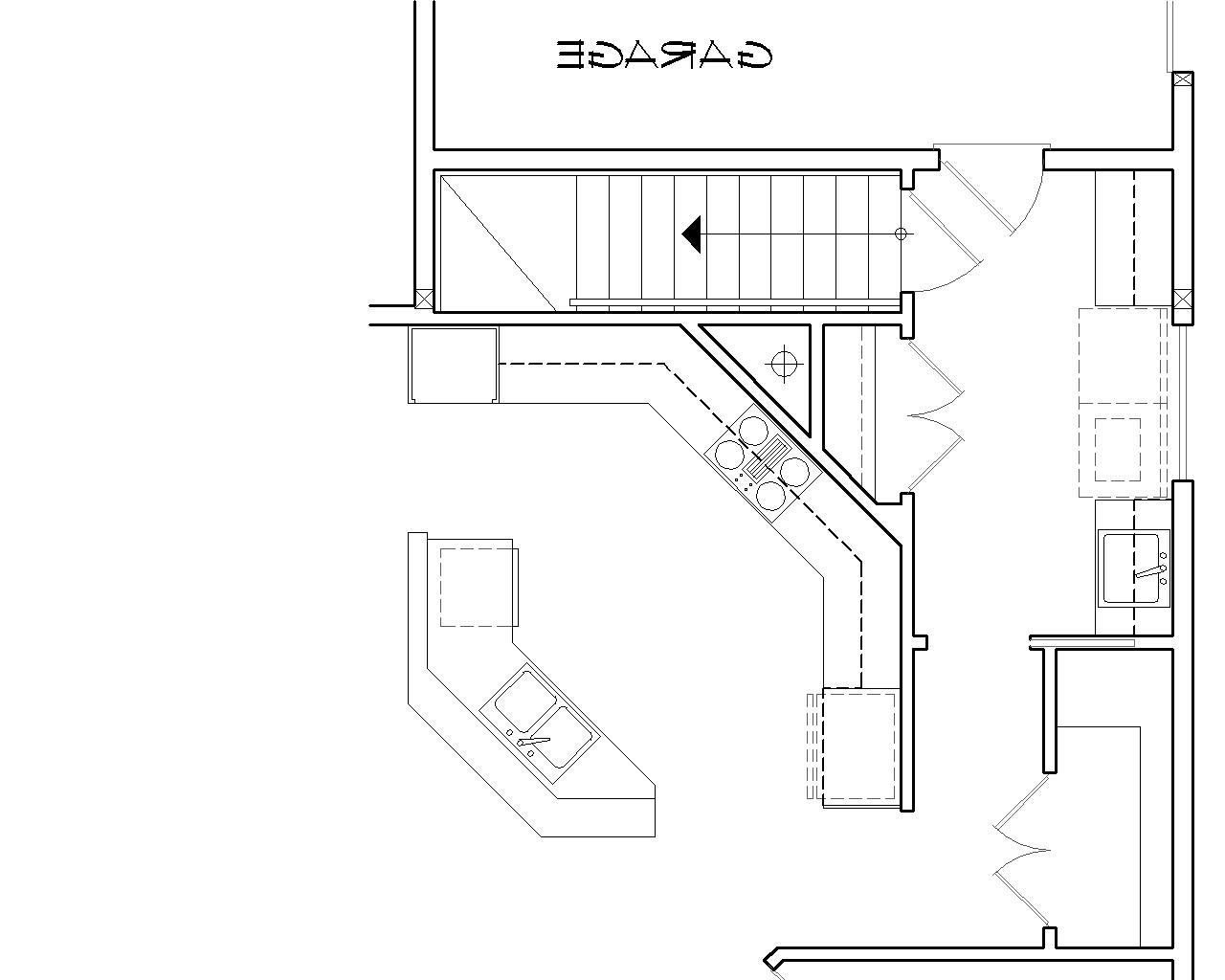 Basement Stair Location image of Featured House Plan: BHG - 5258