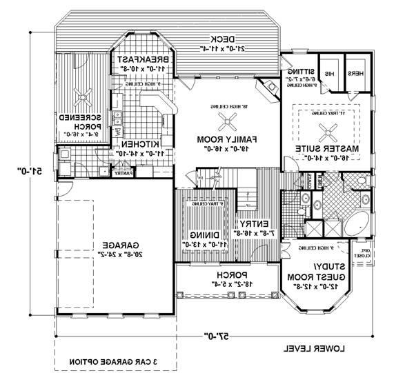 Lower Floorplan image of Featured House Plan: BHG - 6255