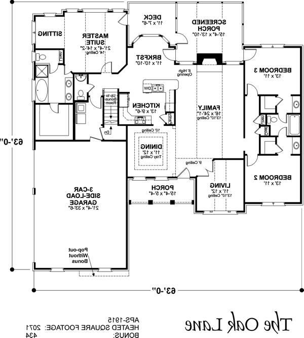 Floorplan image of Featured House Plan: BHG - 6243