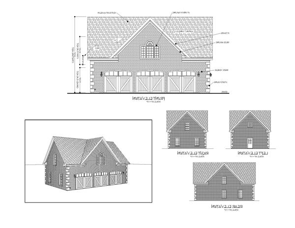 All Elevations image of Featured House Plan: BHG - 7124