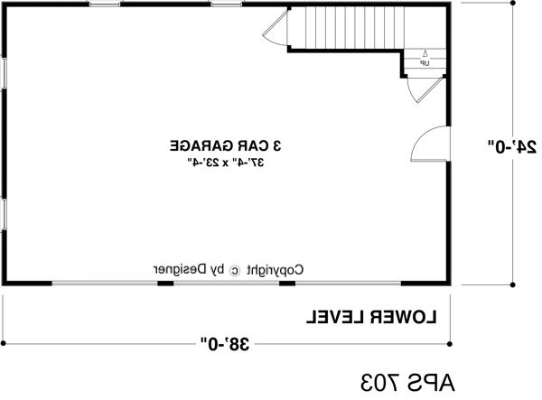 Lower Level Floorplan image of Featured House Plan: BHG - 8335