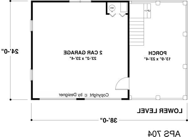 Lower Level Floorplan image of Featured House Plan: BHG - 8323