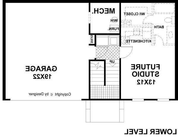 Lower Level Floorplan image of Featured House Plan: BHG - 6269