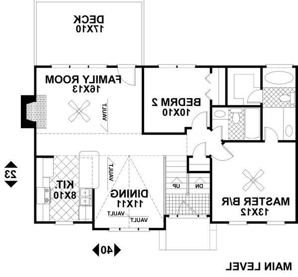 Upper Level Floorplan image of Featured House Plan: BHG - 6269