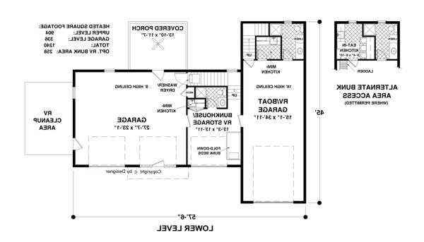 Garage Level image of Featured House Plan: BHG - 1905