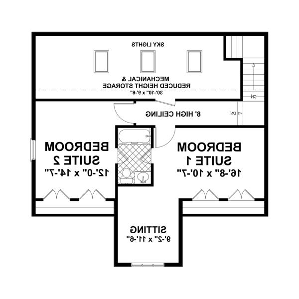Upper Floorplan image of Featured House Plan: BHG - 3348
