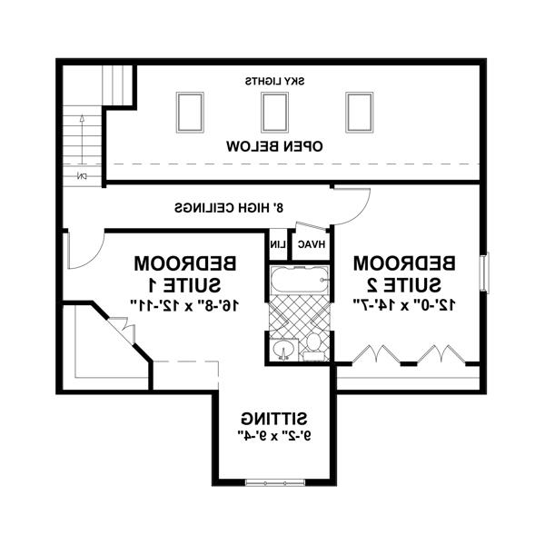 Upper Floorplan image of Featured House Plan: BHG - 3328