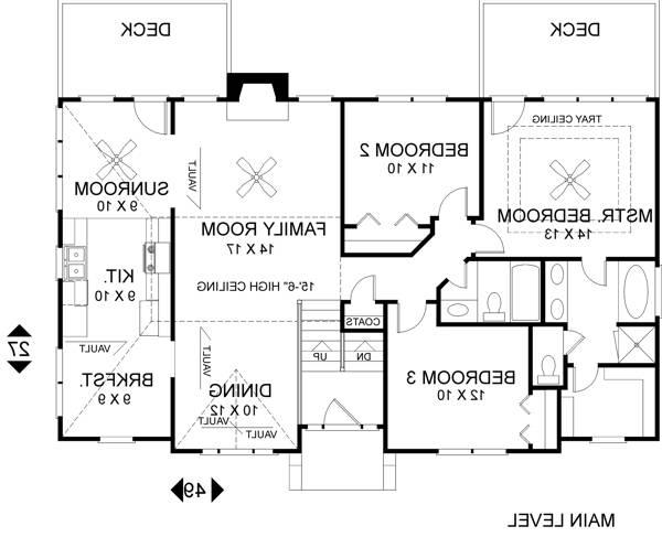 Upper Level Floorplan image of Featured House Plan: BHG - 6284