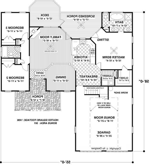 Floorplan image of Featured House Plan: BHG - 6763