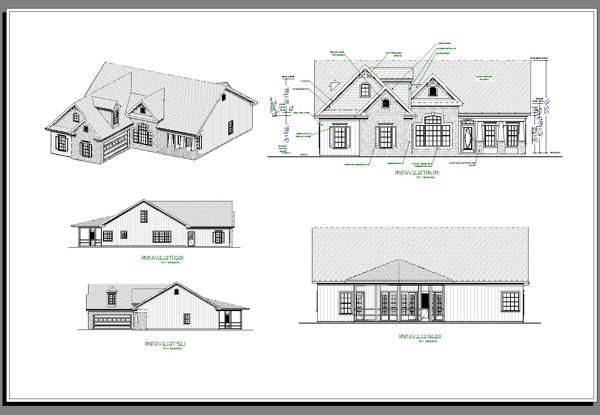 All Elevations image of Featured House Plan: BHG - 6923