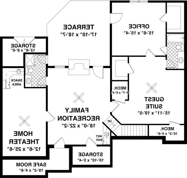 Optional Basement Plan image of Featured House Plan: BHG - 8448