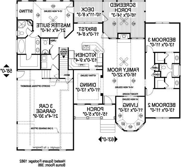 Floorplan image of Featured House Plan: BHG - 6306