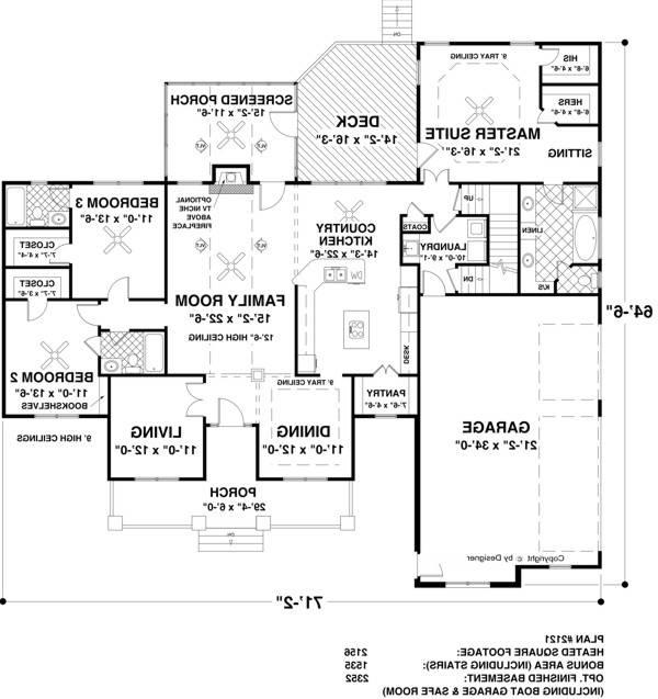 Floor Plan image of Featured House Plan: BHG - 1169